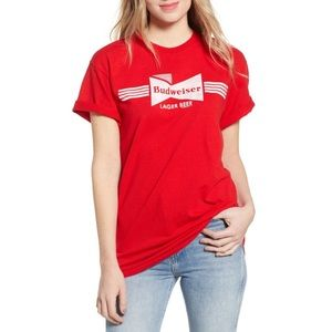 Budweiser Red Lager Beer Tee Junk Food Size Large